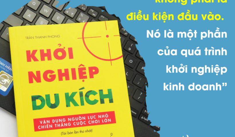 review sách Khởi nghiệp du kích - Trần Thanh Phong - Blog review sách hay