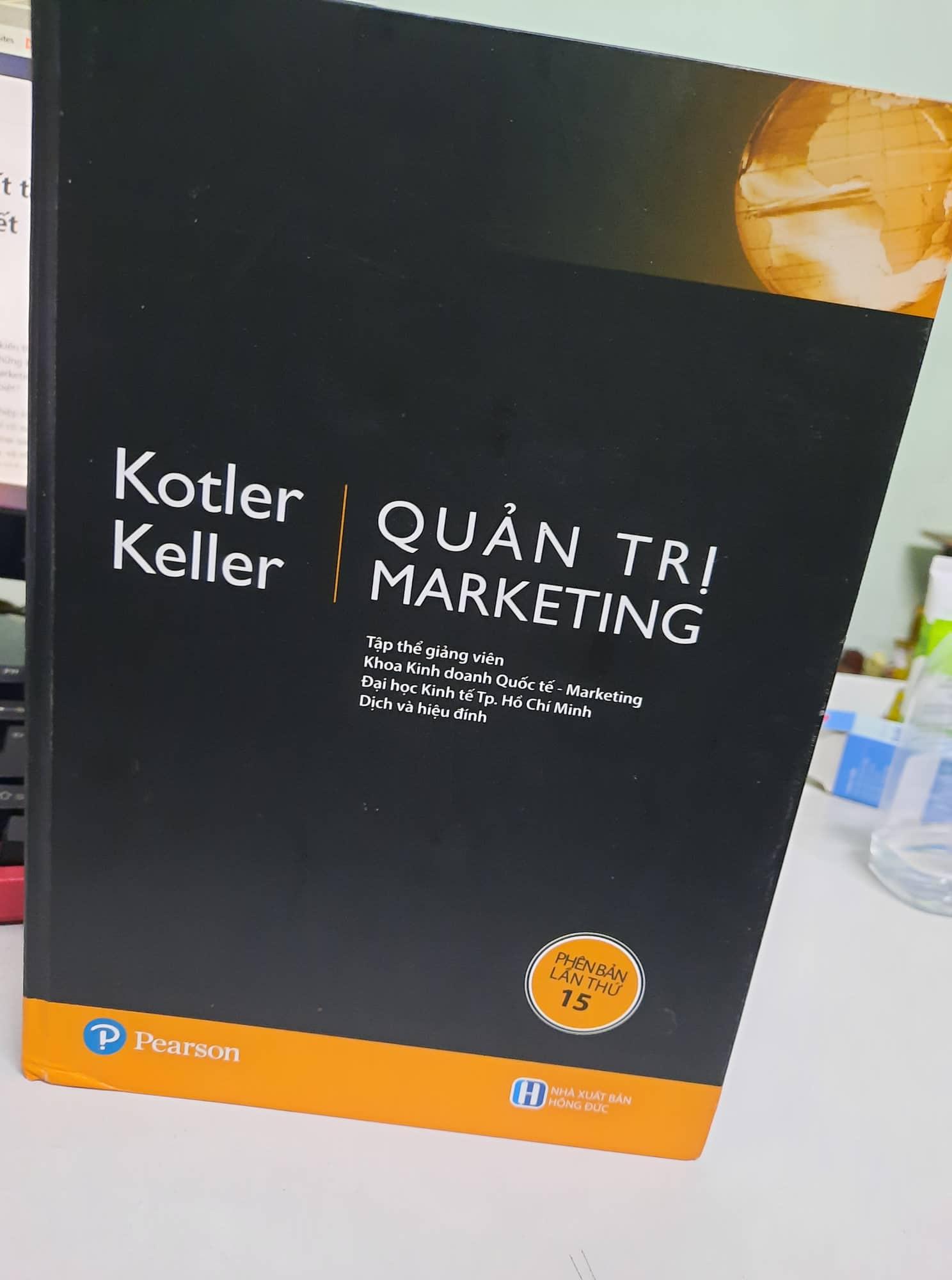 REVIEW SÁCH QUẢN TRỊ MARKETING - PHILIP KOTLER - KELLER - BLOG REVIEW SÁCH HAY